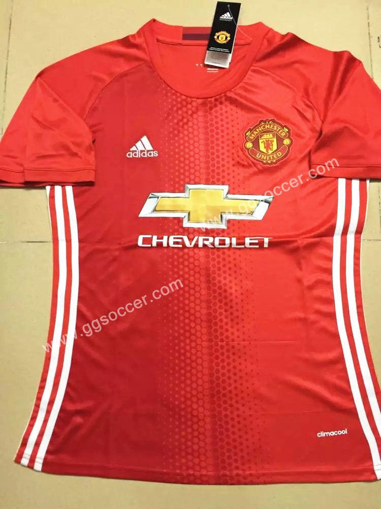 2016-17 Manchester United Home Red Thailand Soccer Jersey