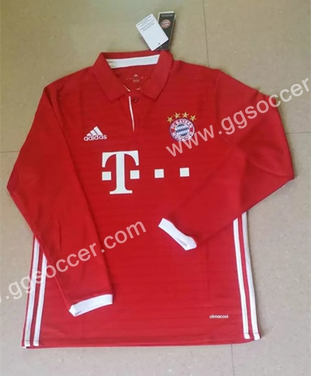 2016/17 Bayern München ROBBEN Home Red Thailand Soccer Jersey