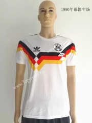 1990 Germany Home White Thailand Soccer Jersey Retro Version