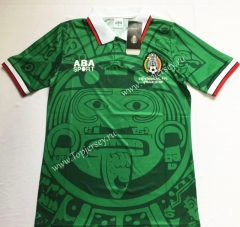 Retro Version 1998 Mexico Green Thailand Soccer Jersey AAA