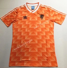 Retro Version Netherlands Orange Thailand Soccer Jersey AAA