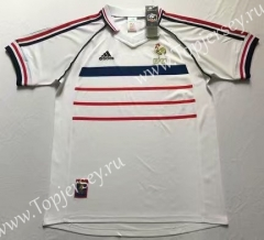 1998 Retro Version France White Thailand Soccer Jersey AAA