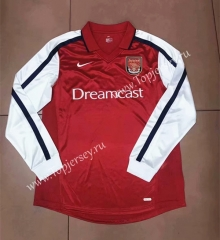 Retro Version 2000 Arsenal Red Thailand LS Soccer Jersey AAA