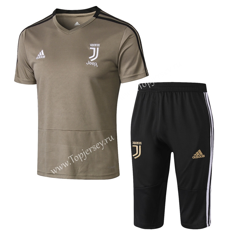 1c20ec500ed 2018-2019 Juventus Earth Yellow Short-Sleeved Thailand Soccer ...