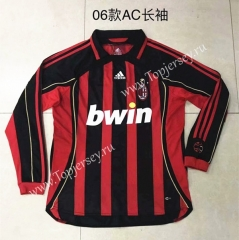 Retro Version 2006 AC Milan Home Red&Black Thailand Soccer Jersey AAA-510