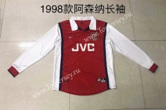 Retro Version 1998 Arsenal Home Red Thailand LS Soccer Jersey AAA-510