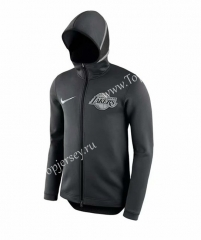 NBA Black Gray With Hat Tracksuit Top 9