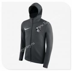 NBA Dark Gray With Hat Tracksuit Top 2