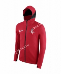 NBA Red With Hat Tracksuit Top 6