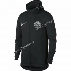 NBA Black With Hat Tracksuit Top 4