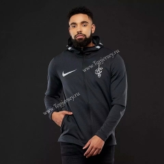 NBA Black With Hat Tracksuit Top 5