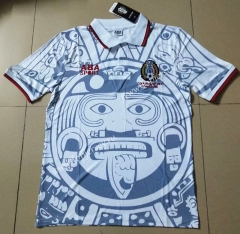 Retro Version 1998 Mexico White Thailand Soccer Jersey AAA-912