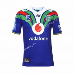2019-20 New Zealand Warriors Home Blue Thailand Rugby Jersey
