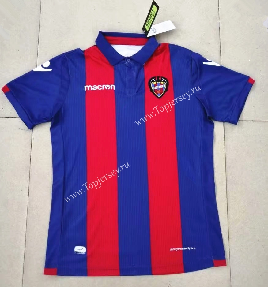 a7a5a3bc 2018-19 Levante UD Home Red&Blue Thailand Soccer Jersey AAA-416 ...