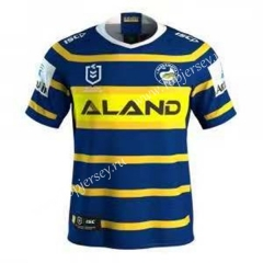 2019-20 Fishes Home Blue& Yellow Thailand Rugby Jersey