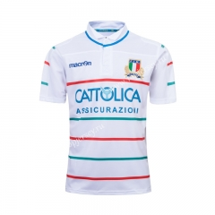 2019-20 Italy Away White Thailand Rugby Shirt