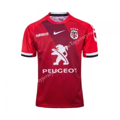 2019-20 Toulouse Red Thailand Rugby Shirt