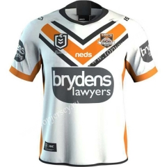 2019-20 Wests Tigers Away White Thailand Rugby Shirt