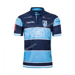 2019-20 New Zealand Bruce Blue Thailand Rugby Shirt