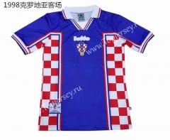 1998 Retro Version Croatia Away Blue Thailand Soccer Jersey AAA
