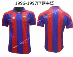 Retro Version 1996-1997 Barcelona Home Red&Blue Thailand Soccer Jersey AAA