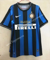 Retro Version Inter Milan Home Blue&Black Thailand Soccer Jersey AAA-811