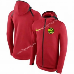 NBA Hawks Red With Hat Jacket Top 20
