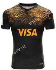 2019-2020 Panthers Black Thailand Rugby Jersey