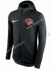 NBA Knicks Black With Hat Jacket Top 24