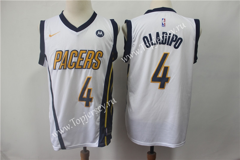 3be98be5466 Earned Edition Indiana Pacers White #4 NBA Jersey-Indiana Pacers ...