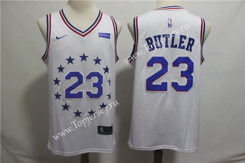 promo code 217b1 0b960 City Edition Philadelphia 76ers White #23 NBA Jersey ...