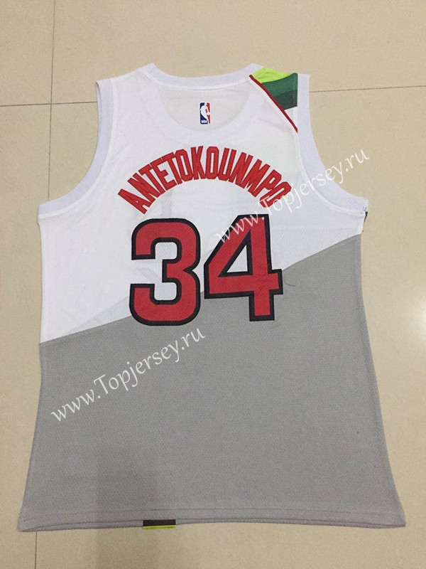 new concept 8c5fc eda23 Earned Edition Milwaukee Bucks White #34 NBA Jersey ...