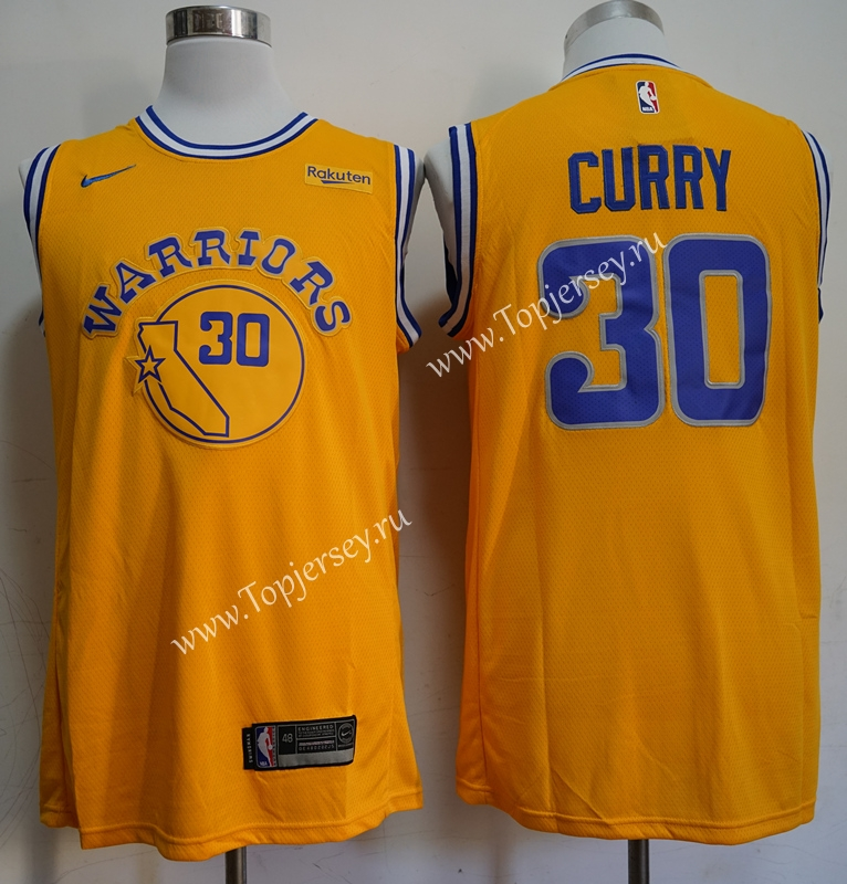 online store 4dd2d 12365 Retro Edition Golden State Warriors Yellow #30 NBA Jersey ...
