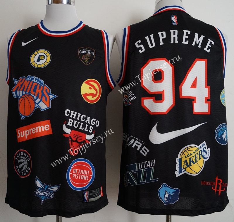 finest selection e7648 60df2 Supreme x Nike x NBA) Black #94 NBA Jersey,Others