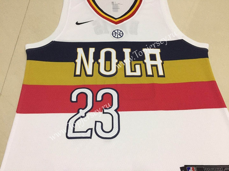 Earned Edition New Orleans Pelicans White 23 Nba Jersey New