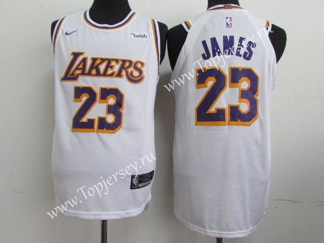 hot sale online b2ca0 b739b Retro Edition Los Angeles Lakers White #23 NBA Jersey,Los ...