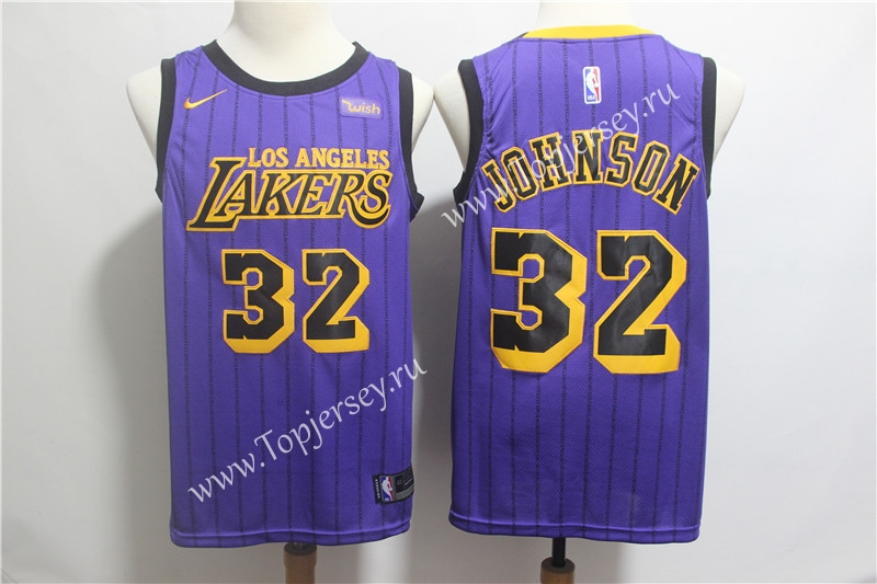 sports shoes fac2d 96798 City Edition 2019 Los Angeles Lakers Purple #32 NBA Jersey ...