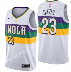City Edition New Orleans Pelicans White #23 NBA Jersey