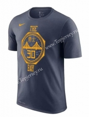 Golden State Warriors Dark Gray #30(CURRY)NBA Cotton T-shirt