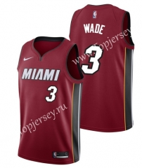 City Edition Miami Heat Red #3 NBA Jersey