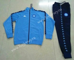 Retro Version Napoli Blue Thailand Soccer Jacket Uniform-503