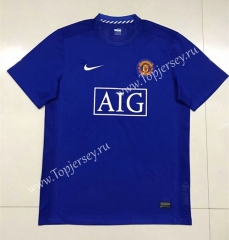 2004-2006 Manchester United Away Blue Thailand Soccer Jersey AAA-SL