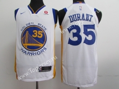 Golden State Warriors White #35 NBA Jersey