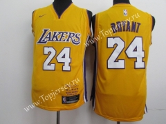 Commemorative Edition Los Angeles Lakers Yellow #24 NBA Jersey