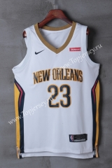 New Orleans Pelicans White #23 NBA Jersey