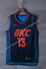Oklahoma City Thunder Dark Blue Strip #13 NBA Jersey