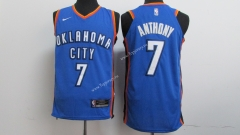 Oklahoma City Thunder Blue #7 NBA Jersey