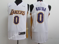 Los Angeles Lakers White #0 NBA Jersey