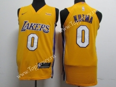 Los Angeles Lakers Yellow #0 NBA Jersey