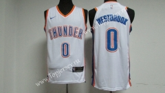 Oklahoma City Thunder White #0 NBA Jersey